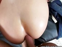 Slutty gf Madelyn Monroe anal try out and cum