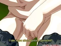 Anime teacher with big juicy tits blowjob and