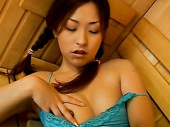 Lori masturbates in the sauna