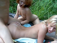 Group sex on a picnic! Part 2