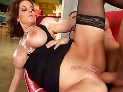 Mature hottie anally smashed on couch