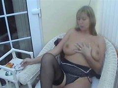 Big tits smoking 1of