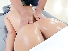 Kristina Rose Slurps Sperm Up In Her Mouth And Pussy!