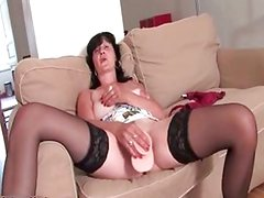 Horny brunette experienced woman gets