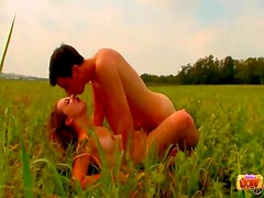 Girlfriend banged in the grass
