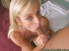 Blonde fucked then squirts