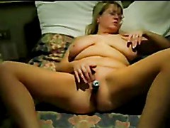 Hot masturbation of my mature wife on home made video