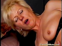 Crazy old mom gets fucked hard sucking cock f