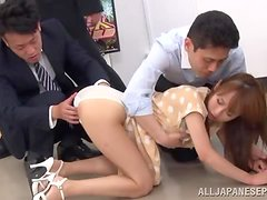 New office manager gets drilled by her colleagues