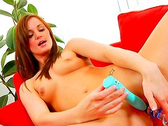 Impressive teen loves her tight pussy