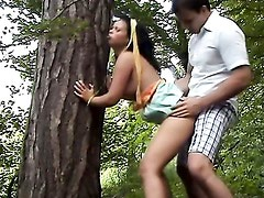 Amateur couple s park entertainment/Krystinka. Part 4