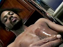 Black cock palmed to perfection