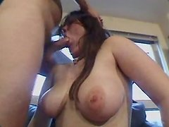 Chubby girl sucking and her friend watches