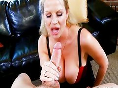 Busty Wife Perfects The Art Of The Blowjob