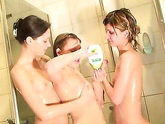 Naked girls party in a sauna 13 - Aspen, Kveta, Taya