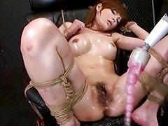 Reika Gets Fucked by a Huge Dildo