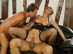German lady fucked by two business guys