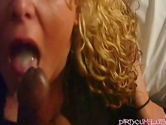 Allysin Letting Strangers Feed Her Cum