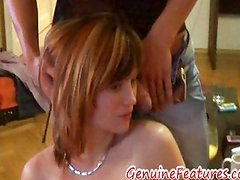 Shy but horny yana playing with two cocks