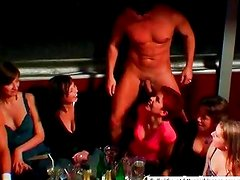 Sweet strippers dancing with chicks