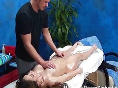 Sexy girl fucked in massage room