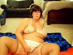 whale in a fishnet pounding herself