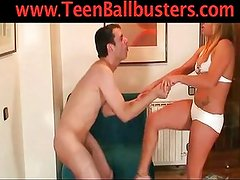 Goddess Sara in Romantic Ballbusting
