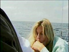 With blonde on the open sea