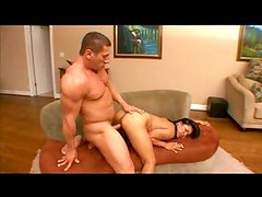 Hunk fucking Asian girl
