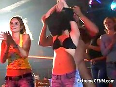 Amateur girls doing naked male in a club