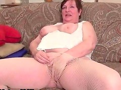 Old horny and busty housewife sticking