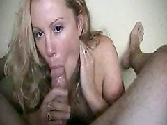 Young wife pleasuring her husband