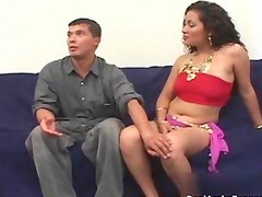 Horny arab whore showing off her tits
