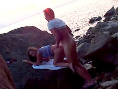 Couple is being filmed while banging