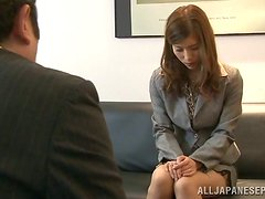 Yuria Ashina gets her Japanese coochie fingered and toyed indoors