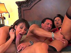 Awesome and crazy threesome fuck with nasty