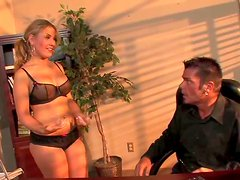 Aubey Addams is making love on the boss's table