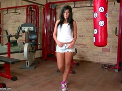 Madison Parker Gets Cum on Her Face in POV Blowjob Vid in the Gym