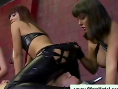 Cfnm femdom bitches facesit and blowjob