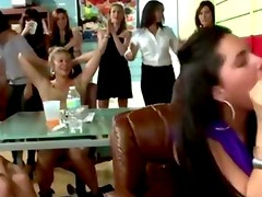 Reality sluts get cocksucking at cfnm party with strippers