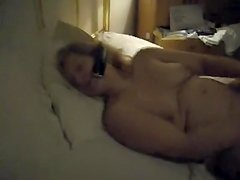 Laura sex tool on phone with darksome lover 2