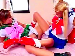 Young teens are playing naughty
