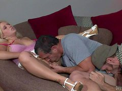 Bisexual lover enjoys in taking on Sammie Spade's shaved taco