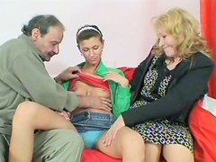 Young hoe Zlata masturbates watching fat mom giving a head to her hubby