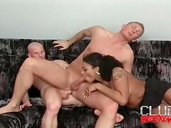 Bisexual butt fuck video ends in hot cumshot