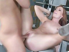 Dani Jensen gets her wet pussy filled with hard cock