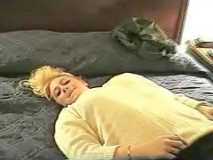 Chunky large breasted hawt wife feeds on his cum