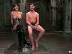 Dominación femenina dildo - Dominant Shy Love Masks and Ties a Guy for a Hardcore Fucking in BDSM