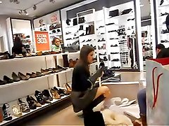 Upskirt Shoe Store Assistant 2
