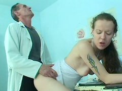 Milada is banged by perverted doctor